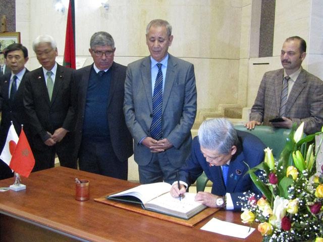 伊達参議院議長のモロッコ公式訪...